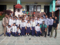 A group picture after the formation of Child Club at school