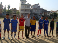 inter child club football tournament with slogan So No to Child Labor