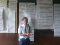 a student taking part in child rights responsive school training
