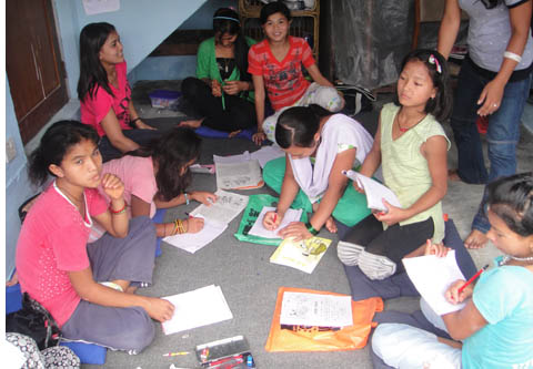 child laborers attending non-formal class