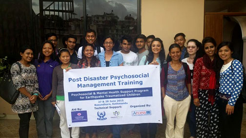 Post Disaster Psychosocial Management Training